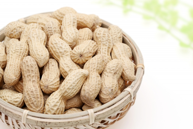ピーナッツ|レスベラトロール含有の茶色い薄皮に抗酸化作用がある
