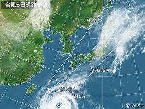 台風24号大阪直撃